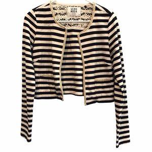 Vero Moda striped blazer cardigan sweater small